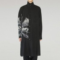 Yohji Yamamoto Black Scandal Demon Mask Overcoat