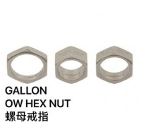 Off-White Hex Nut Ring