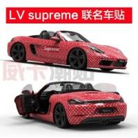 LV x Supreme Car Sticker Wrap