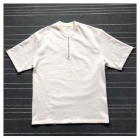 Short Sleeve Half Zip Henley Tee
