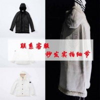Supreme x Stone Island Hand-Painted Hooded Shearling Jacket