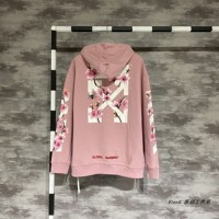 Off-White Cherry Blossom Global Warming Pink Hoodie