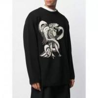 Yohji Yamamoto Eagle Snake Intarsia Knit Sweater