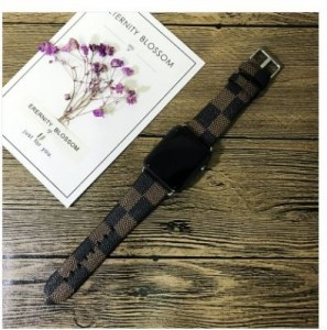 LV Leather Apple Watch Strap
