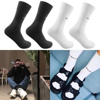 Balenciaga Mercerized Cotton Socks