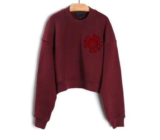 Alexander Wang Vinyl Meltdown Cropped Sweatshirt