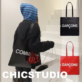 CDG Leather Tote Bag