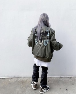 CDG x Stussy 40Th Anniversary Ma-1 Bomber Jacket From Hlutir (Pre-Sale)