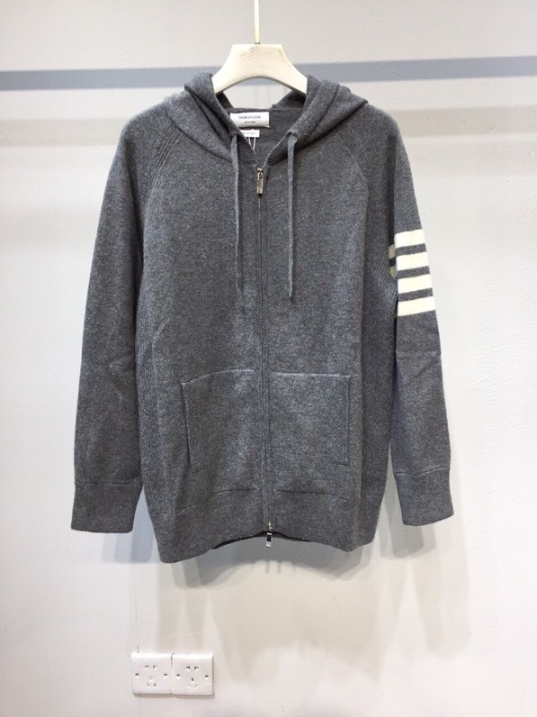 TB matching cashmere hoodie