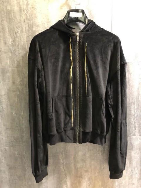 Ackermann Black Zip Hoodie with golden embroidment