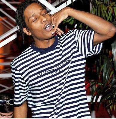 """A$ap Rocky x Guess """"Red Striped"""" Tee"""