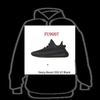 Yeezy Boost 350V2 Black Sneakers (FU9006)