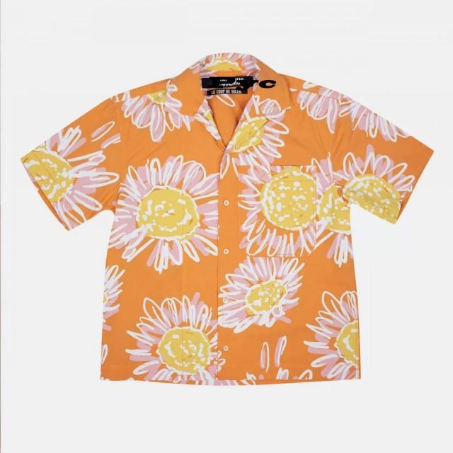 Jacquemus orange flower printed short-sleeved shirt