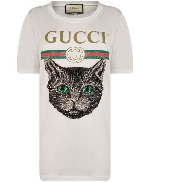 Gucci Cat Patch Tee