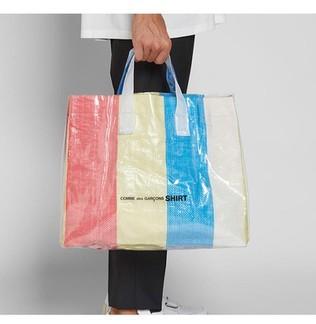 CDG PVC Multicolor Tote