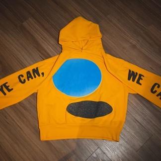 """Kanye West x CPFM """"Jesus is King"""" Hoodie (yellow)"""