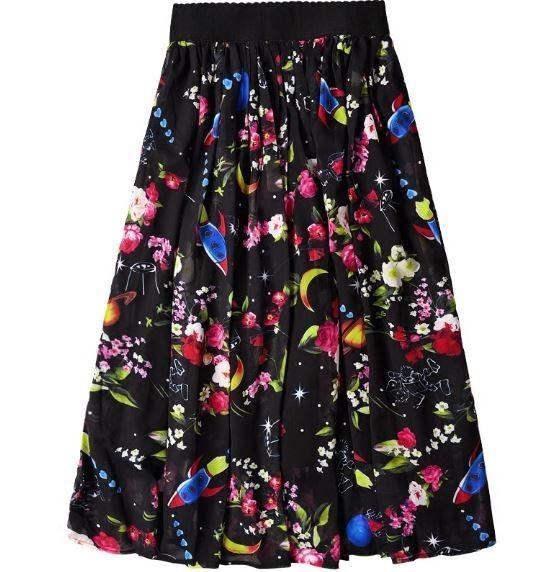 D&G-inspired Rocket Floral Maxi Skirt