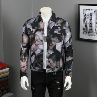 Dior x Dan Witz Moshpit Full Print Denim Jacket
