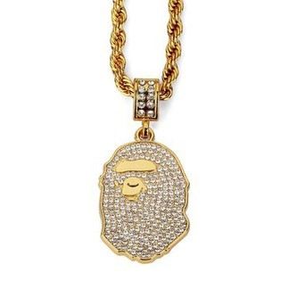 Bape Iced Out Necklace