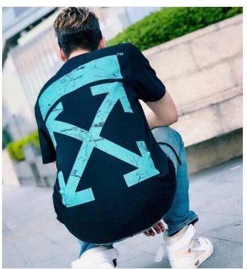 Off White Marble Cross Logo T-Shirt (SS19)