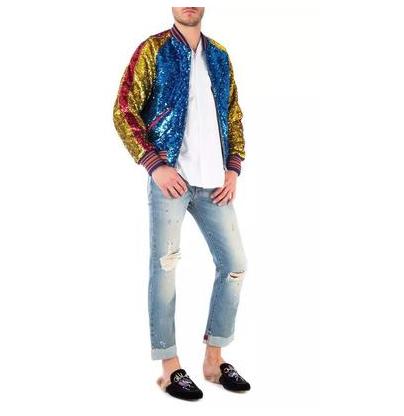Gucci L'Aveugle Par Amour Cuff Jeans