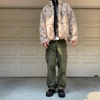 Kapital Do-Gi Sashiko Boa Fleece Jacket From Tens