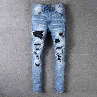 Amiri Ripped Paint Splatter Jeans