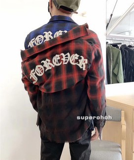 Amiri Faded Tie Dyed Forever Flannel Shirt