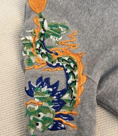 Gucci Logo Hoodie w/ Dragon