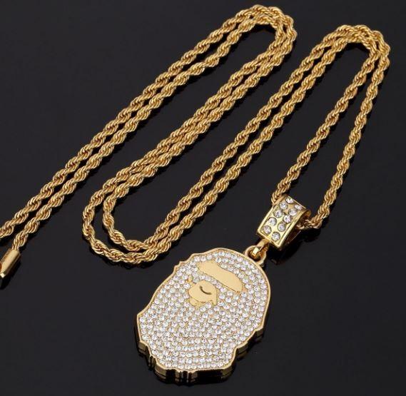 Bape Head Necklace