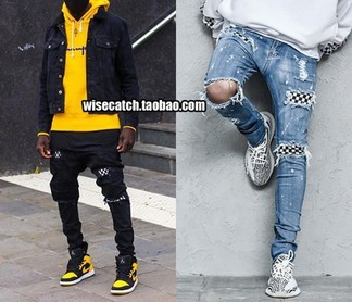 Amiri Checkered Jeans