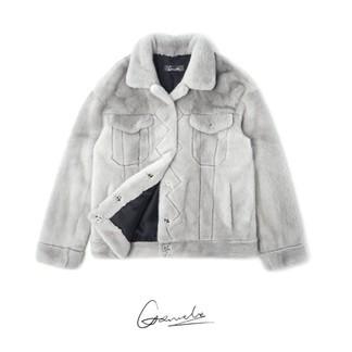 Louis Vuitton Inspired Mink Fur Jacket