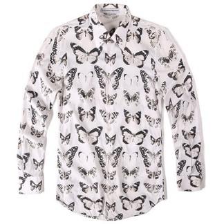Alexander McQueen Victorian Moth Printed Dress Shirt (FW16)