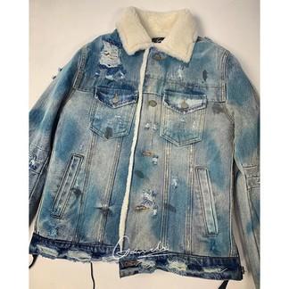 Amiri Killmonger Sherpa Denim Jacket