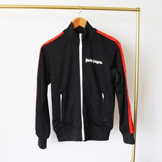 Palm Angels Track Jacket (Black/Red)