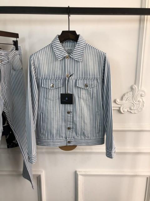 Lanvin Striped Denim Jacket