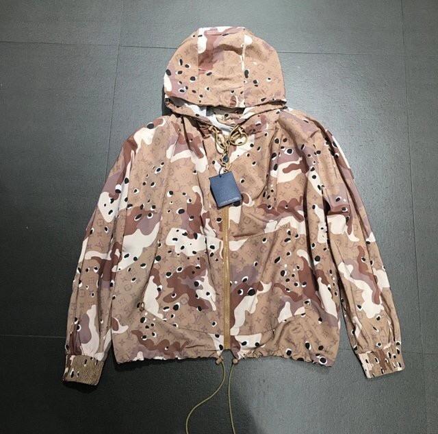 Louis Vuitton Camo Parachute Zipped Hoodie