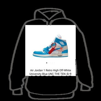 Nike x Off-White Air Jordan 1 UNC Retro High (AQ0818-148)