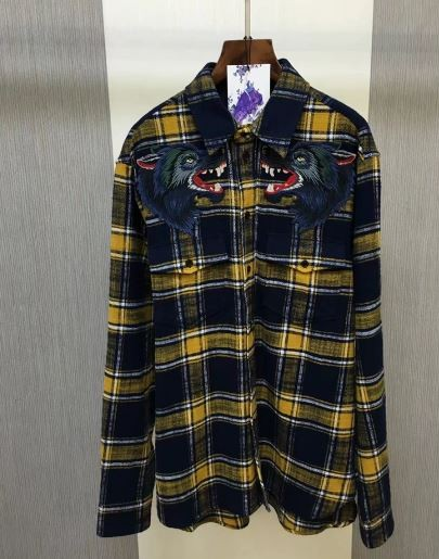 Gucci Wolves Flannel