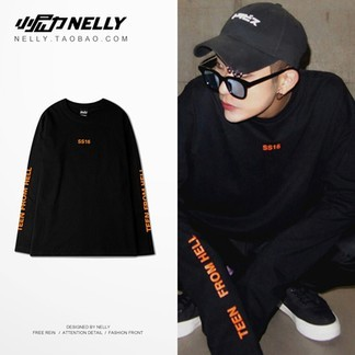 Nelly Orange Oversize Longsleeve