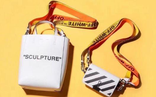 Off white Binder Clip Bag