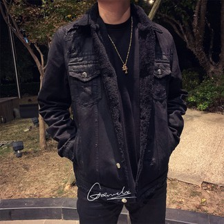 Black Amiri Shearling Jacket