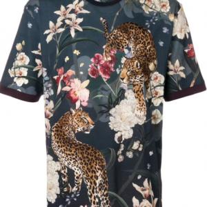 D&G Floral Leopard Print T-shirt