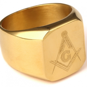 Freemason Gold Ring