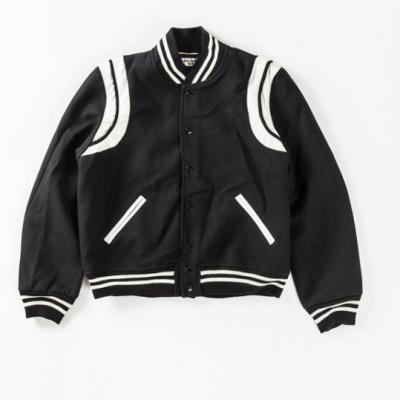 Saint Laurent Teddy Baseball Jacket (Cross Glory II Version)
