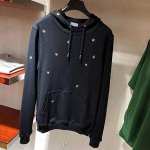 "DIOR Autumn Sweatshirt ""BEES"" Gold Thread Embroidery"