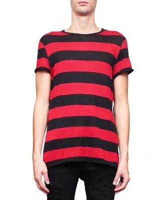 Saint Laurent Red Striped T-shirt